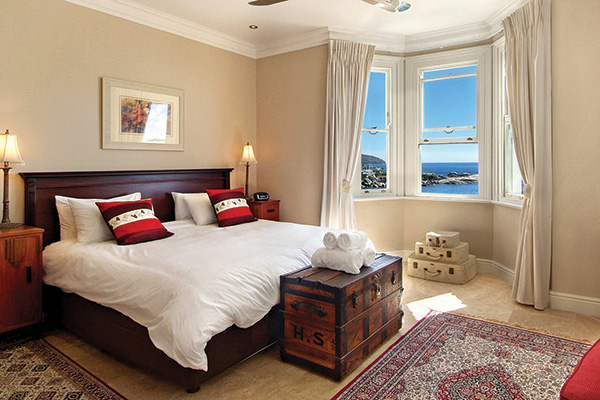 Villa main bedroom with spectacular view