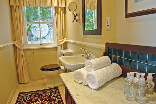 Garden Apartment main bedroom's en suite facilities
